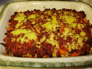 Beef and veggie casserole