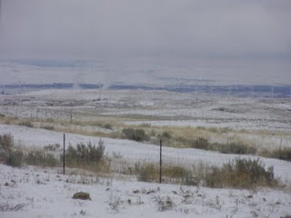 Winter view of town from 2 acres