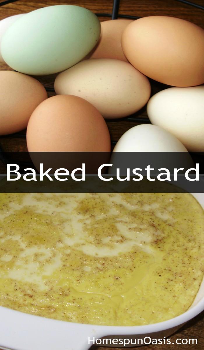 Baked Custard | A nourishing and delicious family favorite! | HomespunOasis.com