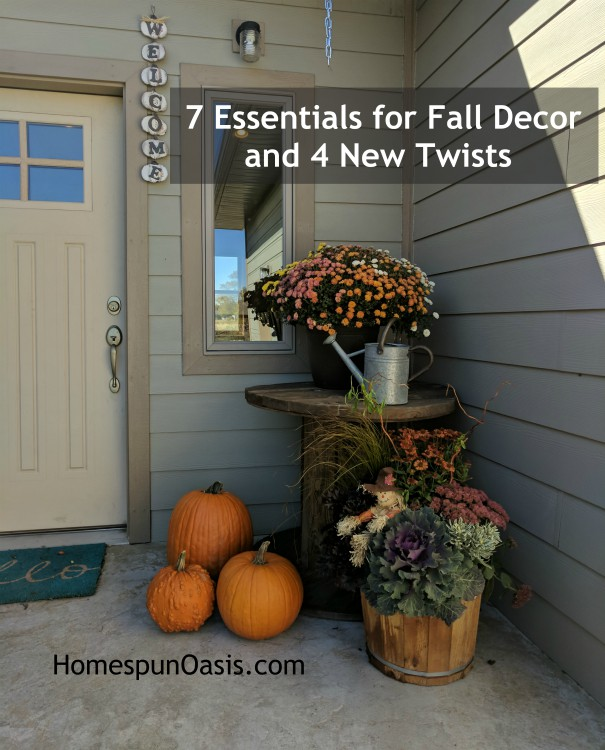 7 Essentials for Fall Decor and 4 New Twists | HomespunOasis.com