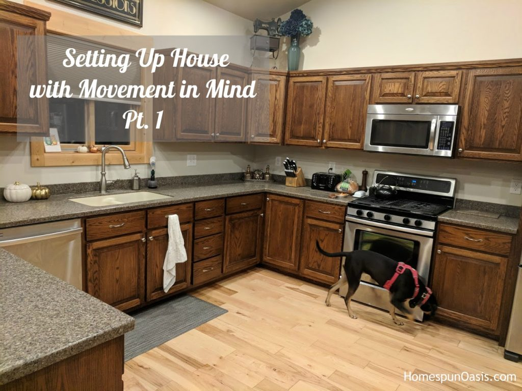 Setting Up House with Movement in Mind Pt. 1 | HomespunOasis.com