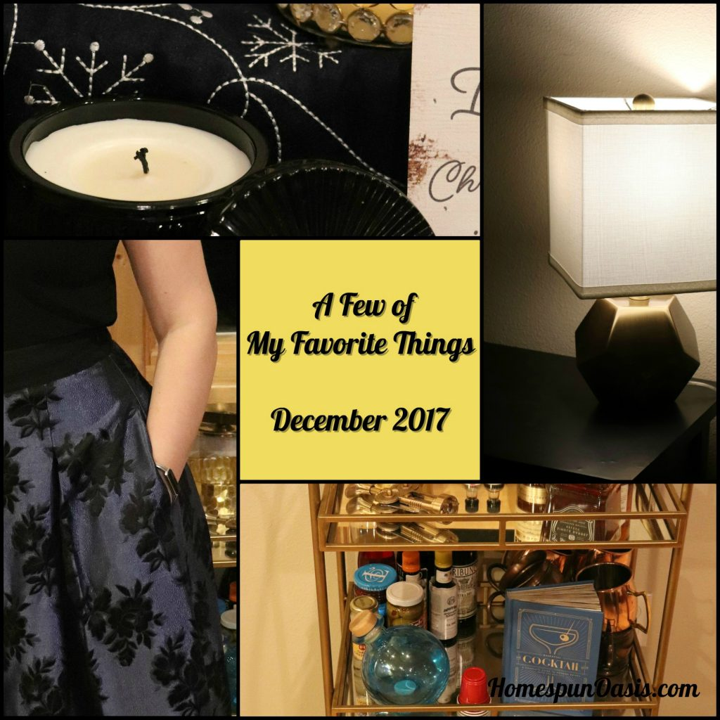 A few of my favorite things - December 2017 ~HomespunOasis.com