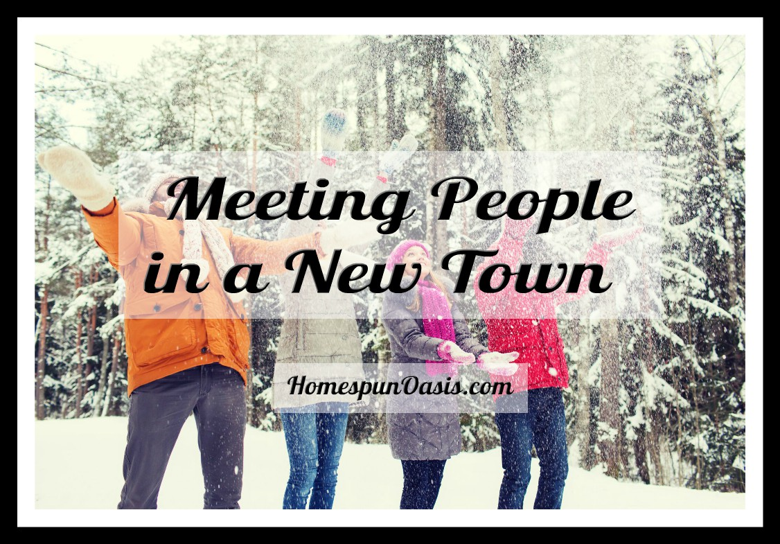 Meeting People in a New Town