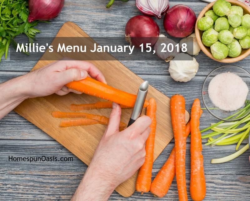 Millie's Menu January 15, 2018