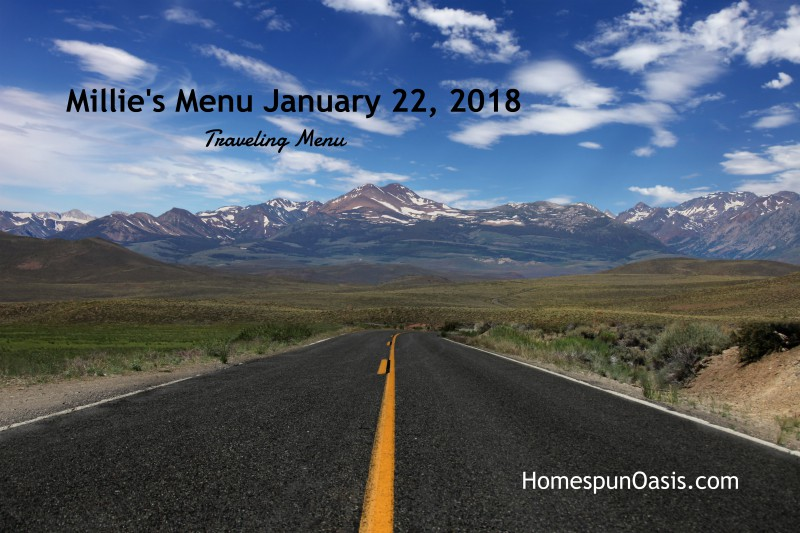 Millie's Menu January 22, 2018 THM traveling menu