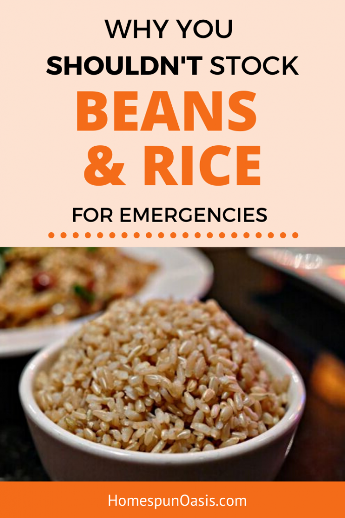 5 Reasons Not to Stock Beans and Rice